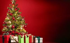 елка, подарок, новый год