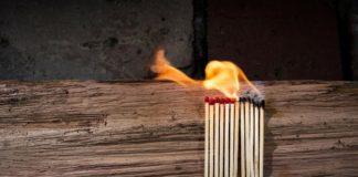 пожар, поджог, спички, огонь