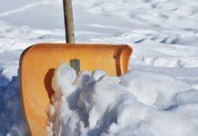 снег, лопата, зима