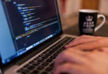 программирование, ноутбук, экран, код